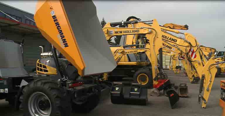 Construction equipment dealership