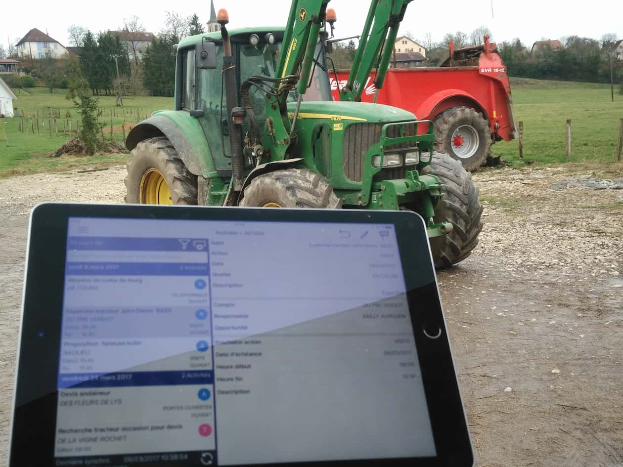 Agricultural machinery software